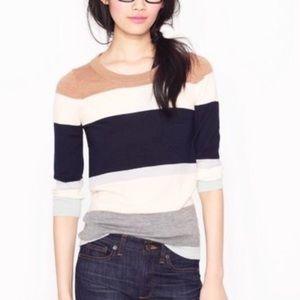 J Crew 100% Merino Wool Tippi Colorblock Sweater
